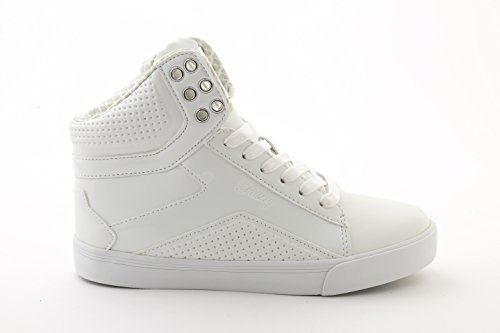 White Pastry - Pastry Pop Tart Grid Adult Dance Sneakers, White, Size 8