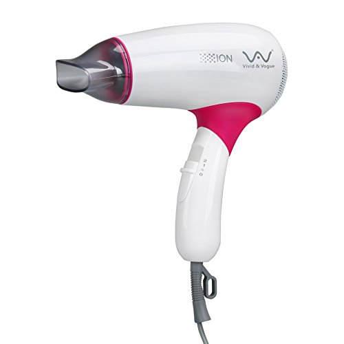 VAV Rotatable Folding Handle Hair Blow Dryer Lightweight Travel Hair Dryer 1000W Negative Ions