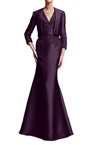 Elegant Dunkel Marie Bolero Traube Ballkleider Abendkleider Brautmutterkleider Wassermelon Langarm La Braut mit Hfwxtqw