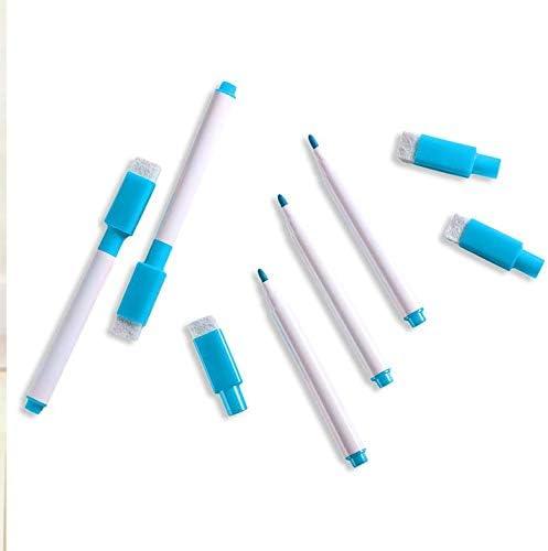 5 pezzi//set nuovissimo pennarello per lavagna bianca asciutta cancellabile pennarelli per cancelleria ambientale per ufficio blu