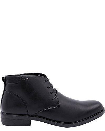 Marco Vitale Mens Mid Cut Chukka Boots Black