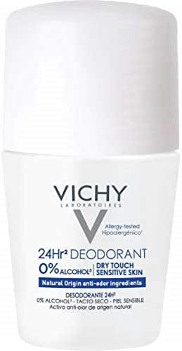 Vichy 24-Hour Dry-Touch Aluminum Free Deodorant and Salt Free, 1.7 Fl Oz