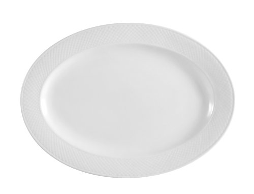 (CAC China BST-81 Boston 18-Inch by 12-1/4-Inch Super White Porcelain Oval Platter, Box of 6)