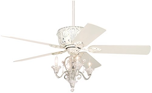 French White Fan Blades - Casa Deville Candelabra Ceiling Fan