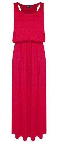 PurpleHanger Women's Toga Long Vest Maxi Dress Plus Size Red 12-14