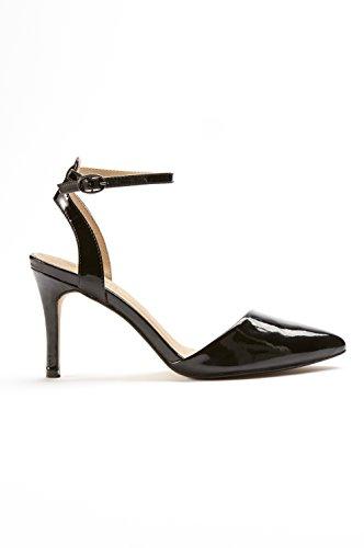 Black Silver Ellos 2 Sandales Patent Pour Or Redoute Femme 6131 La 64 qxPx7A