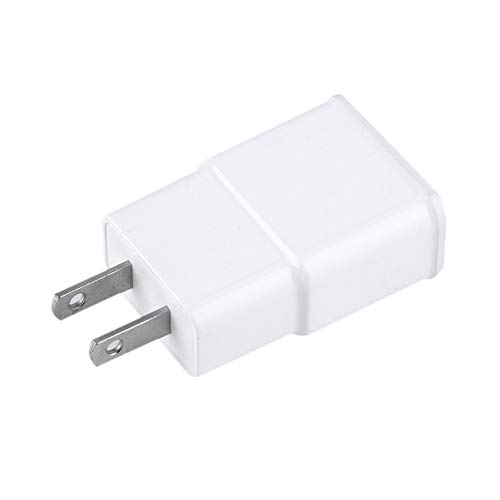 (US/EU Plug AC Wall Charger Adapter 5V 2A Dual USB 2-Port for Cellphone White White)