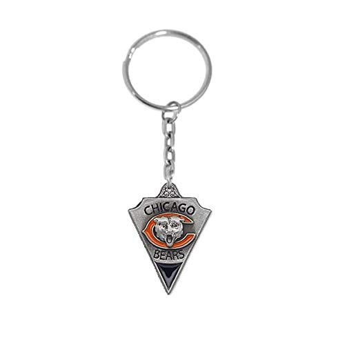 (Occus Fishhook Trendy Mens Jewelry Chicago Bears Key Chain Antique Silver or Rhodium Plated Zinc Alloy Material - (Color: Style 3))