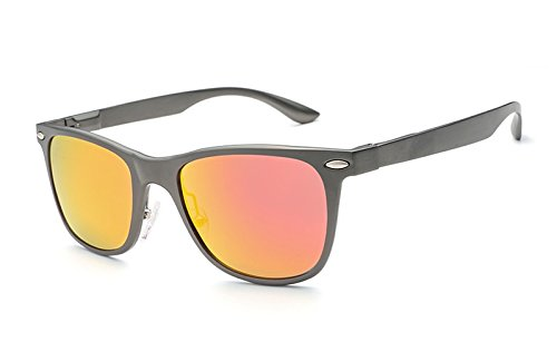 de UV Sol Protección Gafas clásicas Gafas arroz Gray Sol Unisex uñas XZP de polarizadas de Vintage de orange xqwpz6Ef6