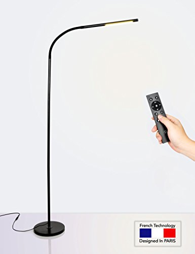 HaloOptronics - Rocket 1933 Combo with Remote Control - LED Floor Lamp 10W Equivalent to 100W - Touch Control - Dimmable - LED Lamp/LED Light - Energy Saving - French Brand