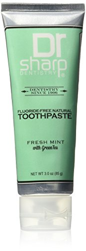 Dr. Sharp Natural Oral Care Toothpaste, Fresh Mint with Green Tea, 3 Ounce (Toothpaste Tea Green)