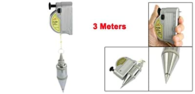 Uxcell Magnetic 300g Plumb Bob Setter Leveling Test Device, 3m