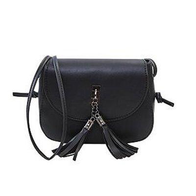 Aassddff New Arrival Women Tassel Messenger Bags Designer Handbags Vintage Bag Shoulder Bag High Quality Mini Crossbody Purse, Dark Green Black