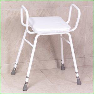 Malvern Vinyl Seat Perching Stool Adjustable Height With Armrests