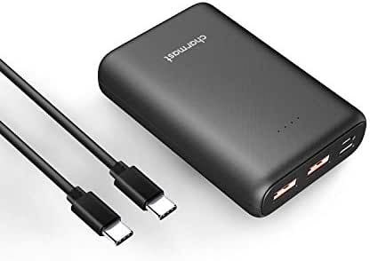 Charmast 10400mAh PD Power Bank USB-C 18W Power Delivery Portable Charger External Battery Pack Quick Charge QC 3.0 Compatible iPhone 11 Pro Max/XS/S/ 8 Samsung S10/ Note 10 Pixel 3/ 3XL Huawei