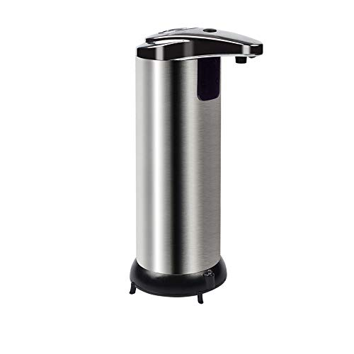 Century Automatic Soap Dispenser, Stainless Steel Touchless Countertop Soap Dispenser with Hands Free IR Infrared Motion Sensor - for Kitchen and Bathroom