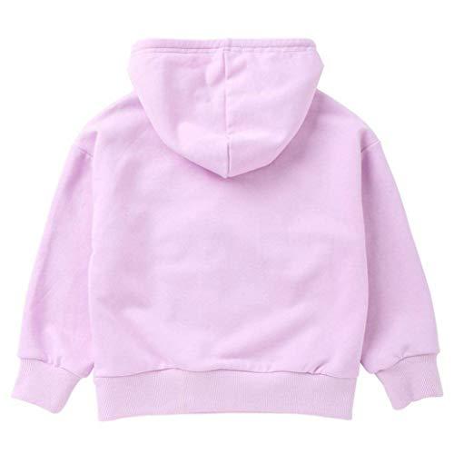 Sweatshirt Décontracté Pour Imprimé Ans Longues À Avec Manches Zhrui Fille Violet Taille couleur 4 Mingon 3 wapq4
