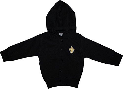 Creative Knitwear Fleur-De-Lis Snap Hooded Jacket