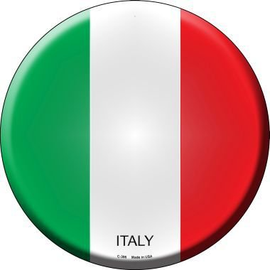 Italy Country Novelty Metal Circular Sign C-306 by Smart Blonde