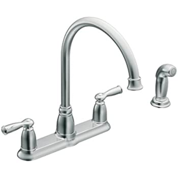 moen banbury kitchen faucet moen ca87000 high arc kitchen faucet with side spray from 20806