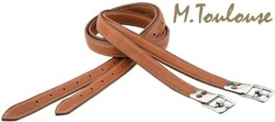 Covered Stirrup Leathers (M. Toulouse Covered Stirrup Leathers- Cognac-)
