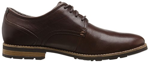 Rockport Men's Ledge Hill 2 Plaintoe Oxford, Dark Brown, 9.5 M US