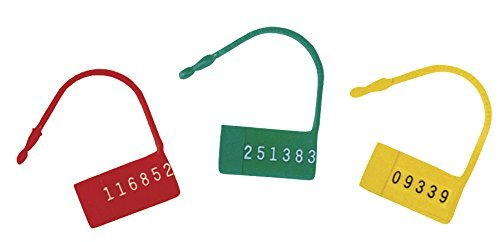 Omnimed Safety Control Seals with Numbers in red, Plastic (Pack of 100)