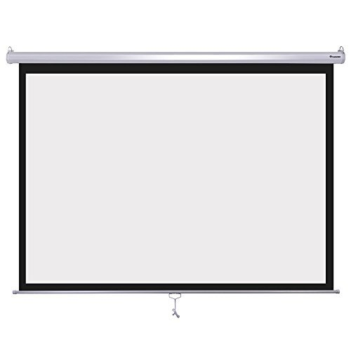"Projector Movie Screen, 79"" x 79"" viewing area, 1:1 format, Mobile projector screen ideal for home cinema or business (Video Format Portable Projection Screen)"