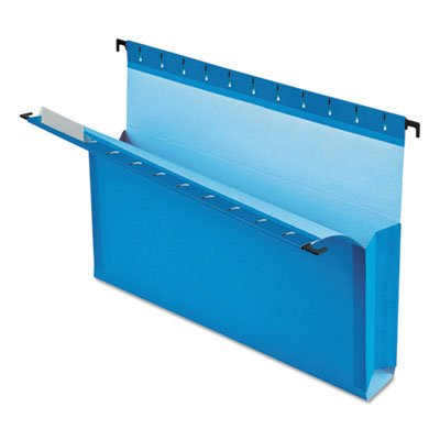 SureHook Reinforced Hanging Box Files, 3'' Exp with Sides, Letter, Blue, 25/Box