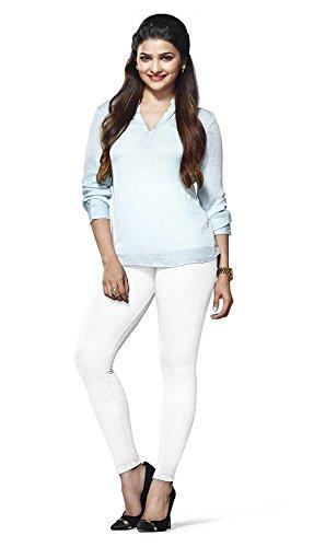 Lux Lyra Women's Ankle Length Leggings   White