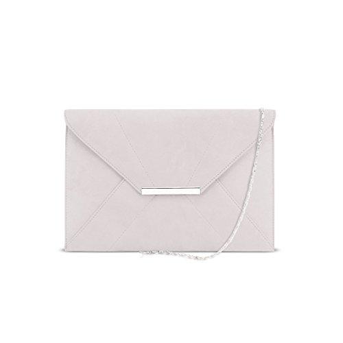 Aimant Suede Faux Enveloppe Bracelet Clair Chaîne DSUK Femmes Gris Porte D'embrayage Monnaie 05qxFEWa