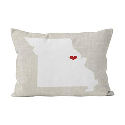 Wesbin Missouri Home State Hot Hidden Zipper Home Decorative Rectangle Throw Pillow Cover Cushion Case Inch 12x24 Lumbar One Side Design Printed Pillowcase