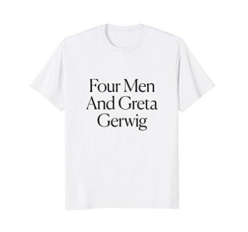 Man Womens Cut T-shirt - The Cut - Four Men And Greta Gerwig Tee