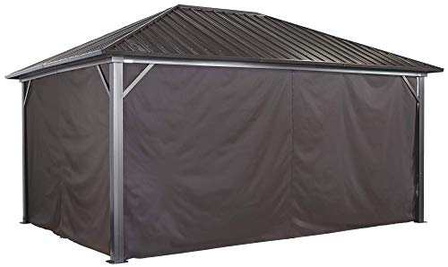 Sojag Accessories Set of 4 12' x 16' Curtains for Genova Outdoor Gazebo - Brown
