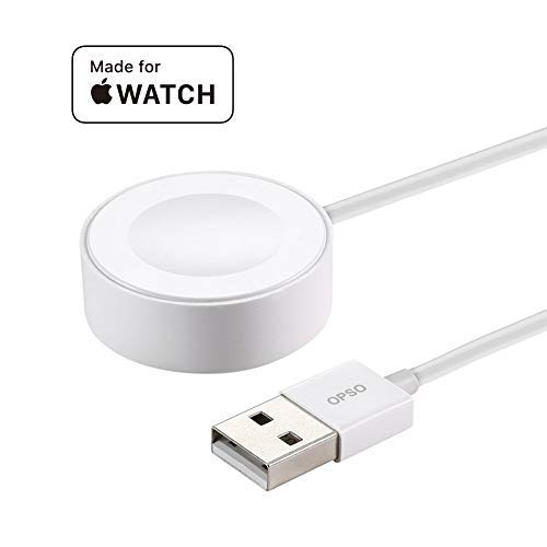 OPSO W001 Magnetic Charging Cable Charger Cord Pad Compatible with iWatch Series 1 2 3 4 38mm 40mm 42mm 44mm 3.3feet 【MFi Certified】