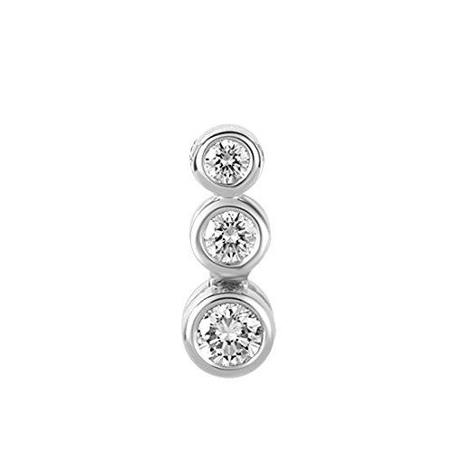 0.15 Ct Round Cut Diamond 925 Sterling Silver Journey Pendant (Jewelry Diamond Bezel Journey)