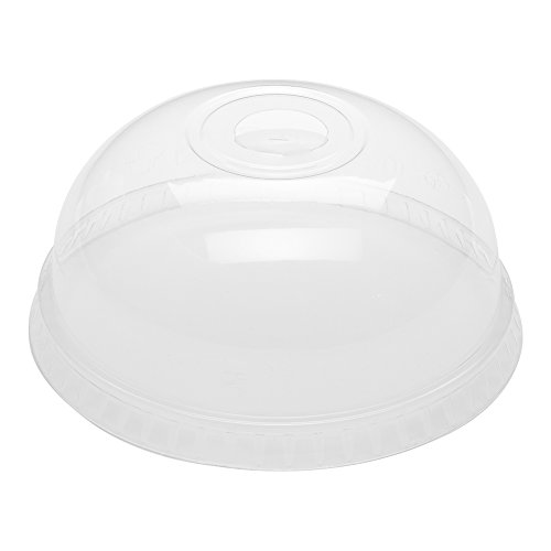 Restaurantware RWP0167C Jui 1000-CT Disposable Clear Dome Lid for Basic Nature Cold Drinking Cup: Perfect for Juice Shops, Delis, Restaurant Takeout – Compostable and Biodegradab, 9/12/16/20 oz,