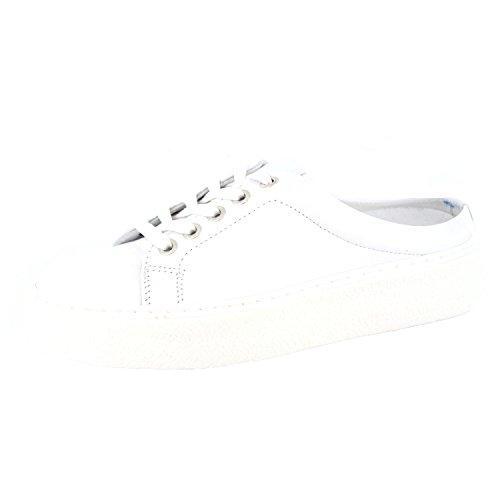 ONLINE SHOES 6144/1 Damen Pantolette Weiß