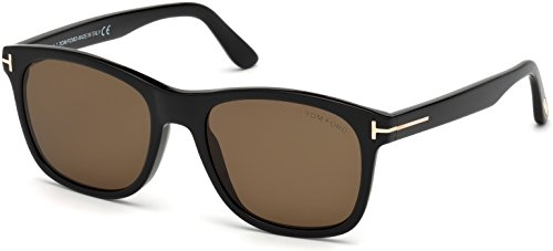 Tom Ford Sunglasses - Eric / Frame: Black Lens: Brown-TF059501J (Tom Ford Sunglass Lens)