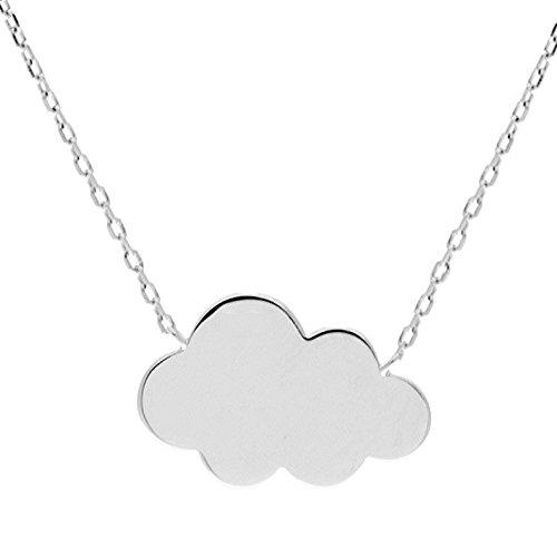 Collar nube plata rhodi/é