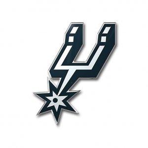 (NBA San Antonio Spurs Color Auto Emblem, One Size, One Color)