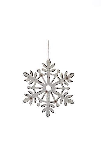 Transpac Imports D2099 Large Metal Snowflake Ornament White (Metal Snowflakes White)