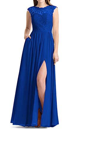 1b9611bb6a BBCbridal Women's Chiffon Bridesmaid Dresses Long Slit Elegant ...