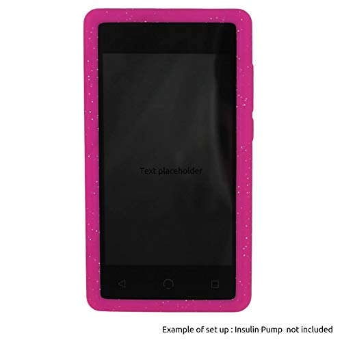 Omnipod' Dash Gel Skin- Soft Silicone Cover Designed to Protect The Omnipod Dash Device (Pink Glitter)