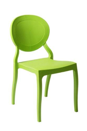 Euro Style Vasska Side Chair, Green, Set of - Euro Ii Chair