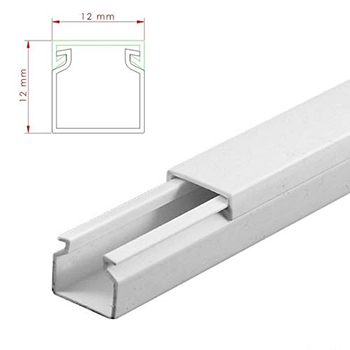 StilBest® 80m Kabelkanal [L x B x H 200x1,2x1,2 cm, PVC, Schraubbar, weiß] Kabeldurchführungssystem   Kabelleiste   Kabelschlauch   Kabelrohr B07PMSRJLW   Merkwürdige Form