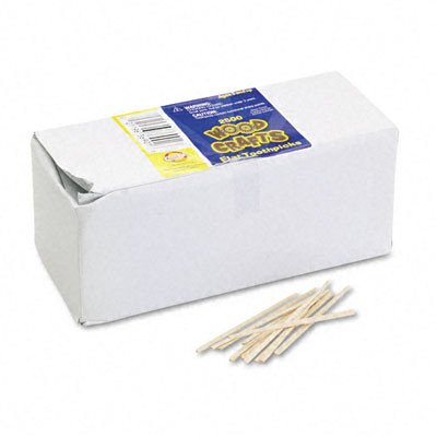 Kraft Flat Wood Chenille (Flat Wood Toothpicks, 2500/Pack [Set of 3])