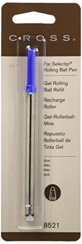 Cross Selectip Gel Rollingball Pen Refill, Blue, 1 Per Card (8521) ()