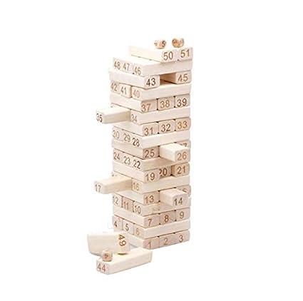 Juego De Torre De Madera Juegos De Apilamiento De Maderas De Madera