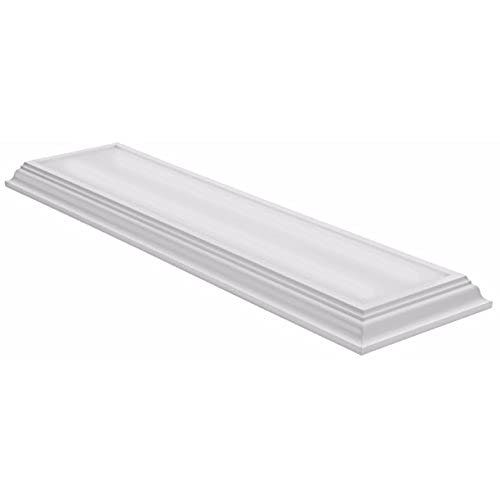 Superieur Lithonia Lighting White 4 Ft LED Flush Mount, 4000K, 35.5W, 2,800 Lumens